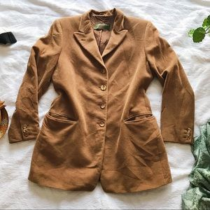 Luciano Barbera   Vintage Suit Jacket Wool Camel